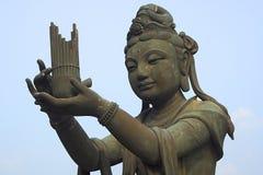 Boddhavista. One of six Boddhavista around the Giant Buddha, Lan Tao, Hong Kong, China Stock Images