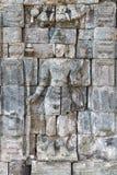 Boddhisattva image in Candi Sewu Buddhist complex, Java, Indones. Images of Boddhisattva on wall of Perwara (guardian) temple in Candi Sewu complex. Candi Sewu Royalty Free Stock Photo