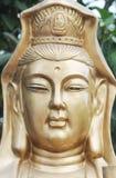 The boddhisattva portrait. The face of a bronze statue boddhisattva Stock Photo