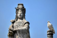 Boddhisatva Mazu, een Chinese overzeese godin royalty-vrije stock foto