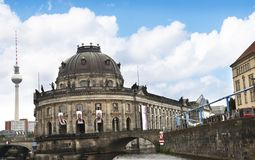 Bode Museum on the banks of the River Spree in Berlin Germanu stock photo