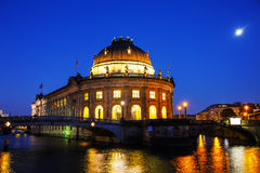 Bode museum in Berlin at night Royalty Free Stock Photos