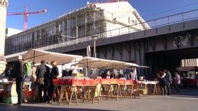 The Bode Museum Flea Market and railway bridge, Am Kupfergraben, Berlin, Germany