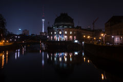 The Bode Museum at night. Stock Photography