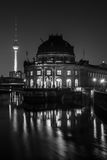 The Bode Museum at night. Royalty Free Stock Photos