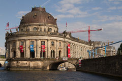 Bode Museum from Spree River, Berlin Stock Images