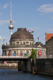 Bode Museum and Television Tower from Spree River, Berlin Stock Image