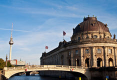 Bode museum and tv tower Stock Photo