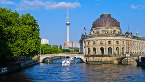 Bode museum and tv tower Berlin stock footage