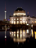 Bode Museum with TV Tower, night shot, Berlin Royalty Free Stock Photos