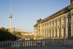 Bode museum, TV tower and Spree river Royalty Free Stock Photography