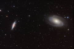 Bode's and Sigar Galaxies vector illustration