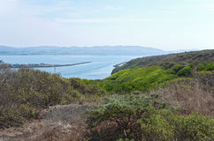 Bodega Bay and Doran Beach. Doran regional park beach and campground and bodega bay of sonoma coast state park in california stock image