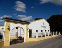 Bodega di Barbadillo Manzanilla, Sanlucar de Barrameda, Spagna Fotografia Stock