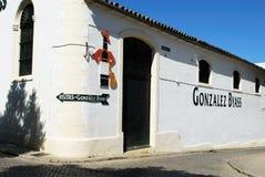 Bodega di Gonzalez Byass, Jerez de la Frontera Fotografie Stock Libere da Diritti