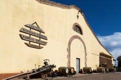 Bodega Familia Cecchin en Mendoza, Argentine photographie stock libre de droits