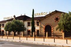 Bodega Franco Espanolas - typical winery in Rioja Stock Photos
