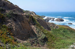 Bodega Head Cliffs and Ocean Royalty Free Stock Photography