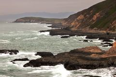 Bodega Head in the Mist Stock Image