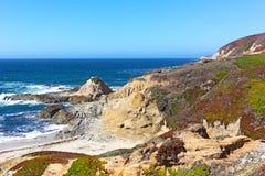 The Bodega Head promontory of Bodega Bay. Stock Images