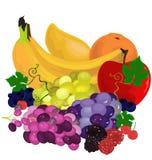Bodegon, φρούτα έτοιμα να φάνε Στοκ Εικόνες