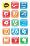 Bodem/Sociale Media Pictogramupdate vector illustratie