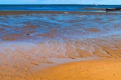 Bodem van de eb van Indische Oceaan stock foto