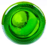 Bodem van de groene fles Royalty-vrije Stock Foto's