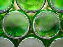 Bodem van de lege flessen van het bierglas Royalty-vrije Stock Foto's