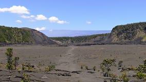 Bodem van krater Kilauea royalty-vrije stock fotografie