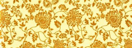 Bodem van oranje abstracte bloemen Royalty-vrije Stock Afbeeldingen