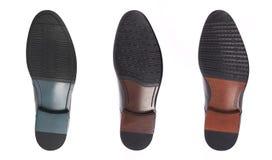 Bodem van schoenen, die op witte achtergrond wordt geïsoleerd enig royalty-vrije stock fotografie