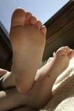 Bodem van voet stock fotografie