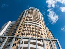 Bodemmening van een nieuw modern gebouw royalty-vrije stock fotografie