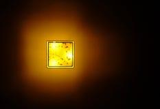 Bodemmening van het hangen van plastic vierkante plafondlamp stock afbeelding