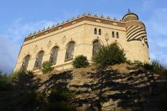 Bodemmening van het kasteel van Rocchetta Mattei Royalty-vrije Stock Afbeeldingen
