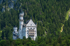 Bodemmening van Neuschwanstein-Kasteel Royalty-vrije Stock Afbeeldingen