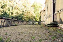 Bodemmening van overwoekerde terrassen Stock Afbeelding