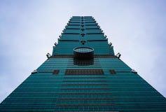 Bodemmening van Taipeh 101 wolkenkrabber in Taipeh Taiwan stock fotografie
