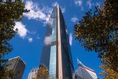 Bodemmening van Wolkenkrabber in Centraal Bedrijfsdistrict van Sydney Stock Foto