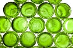 Bodems van lege glasflessen Stock Fotografie