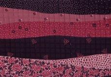 Bodemsamenvattingen van een landschap in kleuren van wijn Royalty-vrije Stock Afbeelding