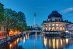 The Bodemuseum in Berlin at dawn Stock Images