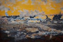 Boden auf den alten Rosthintergründen - perfekter Hintergrund mit Raum Lizenzfreie Stockfotografie