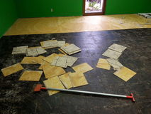 Boden demoliert Stockfoto