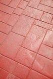 Boden des roten Backsteins Stockbild