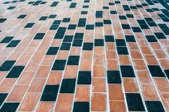 Boden des roten Backsteins Stockfoto