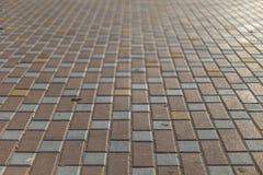 Boden gepflastert mit Farben Stockfotos