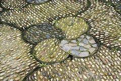 Boden mit Kopfstein Stockfotos