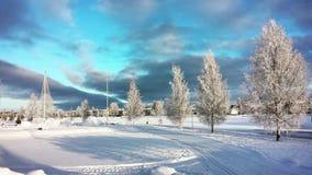 Boden, stad in Zweden stock foto's